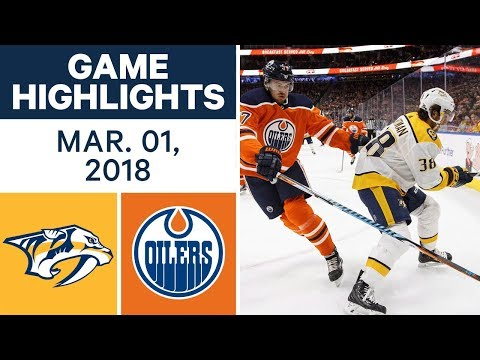 Video: NHL Game Highlights | Predators vs. Oilers - Mar. 01, 2018