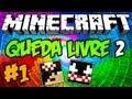 """Minecraft Aventura: Queda Livre 2 - Episódio 1 """"O Esqueleto sem Arco!"""" =P"""