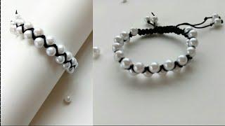 Bracelet/ Friendship bracelets/ How to make bracelets/friendship band/ Crossed bracelet with pearls
