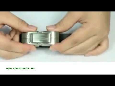 Cool and Practical Metal and Leather USB Bracelet.