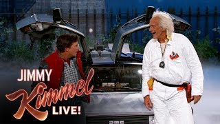 Video Marty McFly & Doc Brown Visit Jimmy Kimmel Live MP3, 3GP, MP4, WEBM, AVI, FLV Oktober 2018
