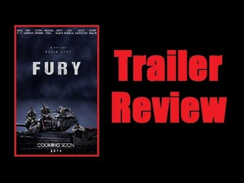 Trailer Review: Fury (2014) Brad Pitt WWII tank movie! (my thoughts)