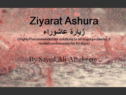 Ziyarat Ashura- by Sayed Ali Alhakeem (with English subtitles). زيارة عاشوراء- السيد علي الحكيم