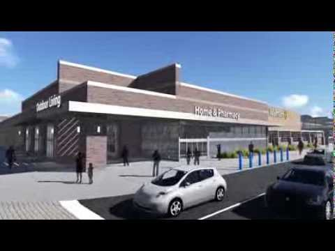 A video showing renderings of a proposed Walmart store in Green Bay's Broadway District. (Courtesy of YouTube).