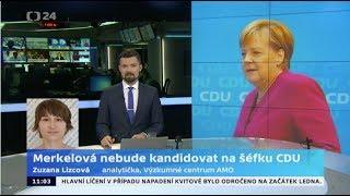 Merkelová nebude kandidovat na šéfku CDU