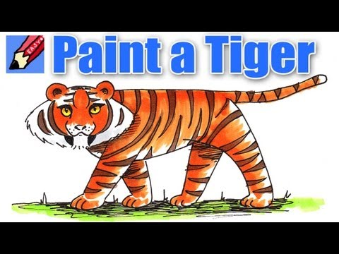 Learn to Paint a Tiger Real Easy