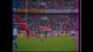 Agen France  City pictures : Finale du Championnat de rugby: Toulouse/Agen. 1986.