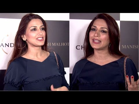 Sonali Bendre At Launch Of Manish Malhotra X Chandon Limited Edition End Of Year 2017 Bottles