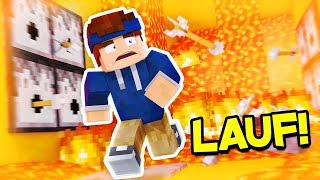 DER HÄRTESTE LAVA RUN! (Minecraft)
