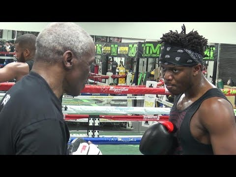KSI **FULL** padwork session with Floyd Mayweather (видео)