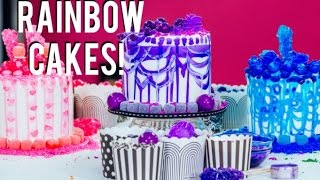 Video How To Make RAINBOW CAKES With A Sprinkle SURPRISE INSIDE!  Decorating With Tiffany Pratt! MP3, 3GP, MP4, WEBM, AVI, FLV September 2018