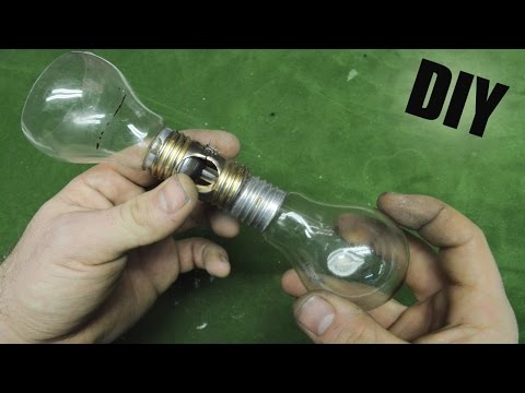 How to Make • Coffee Machine Vacuum Lightbulbs (видео)