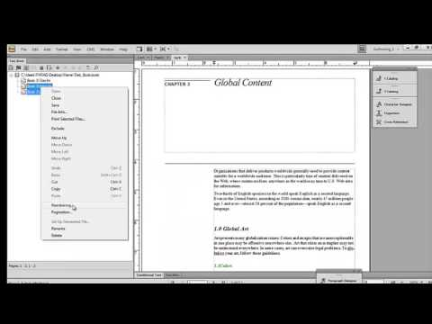 How to create a book and TOC in Adobe FrameMaker