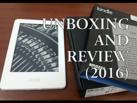 Amazon Kindle Glare-Free Touchscreen Display: Unboxing and Review (2016)