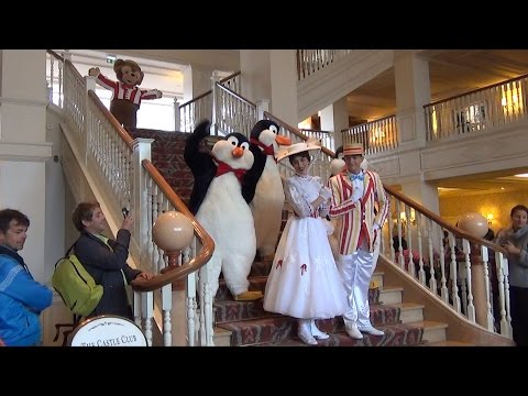 Descent on the Staris, Disneyland Hotel Paris – Characters Include Mary, Bert, Mickey, Gepetto