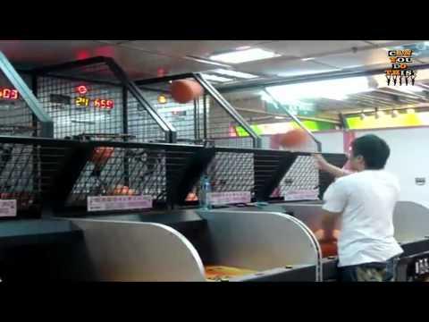 Dude owns arcade basketball