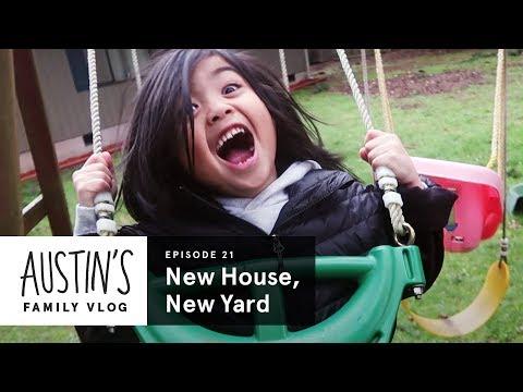 New House, New Yard | Austin Vlog | HiHo Kids