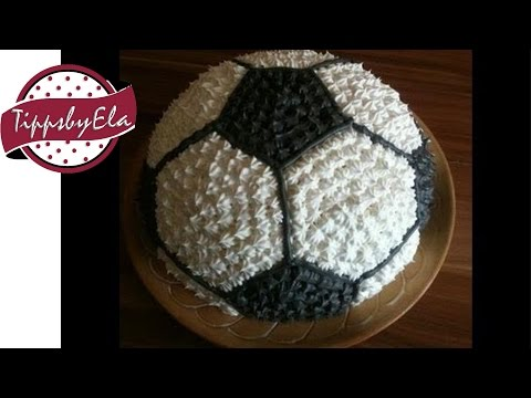 Fußballtorte Torte Anleitung deutsch how to make a football cake german w english subtitle