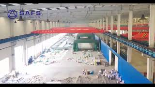 Prefab modular high strength & light weight steel structure coal storage space frame roofing system youtube video