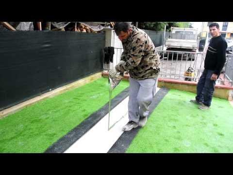 Installazione giardino in erba sintetica - erba sintetica, erba artificiale