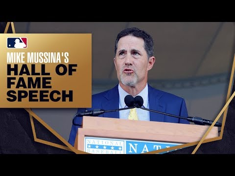 Video: Mike Mussina is inducted into the Hall of Fame