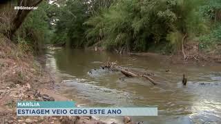 Menor volume de chuvas pode adiantar crise hídrica em Marília