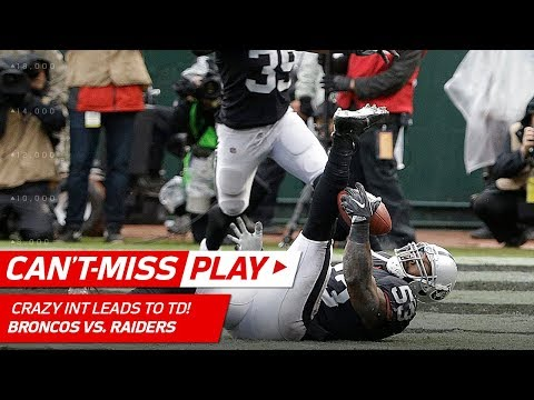 Video: Oakland's Crazy INT is 1st of the Season & Carr Finds Cooper for a TD! | Can't-Miss Play | NFL Wk 12