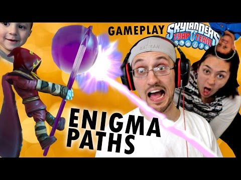 Enigma Hates Bad Breath!! Best & Worst Path Gameplay w/ Sky Dad (Skylanders Trap Team Wave 5)