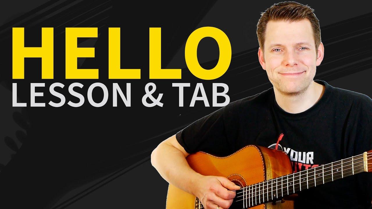 Hello Adele Guitar Tutorial – Beginner Guitar Chords & Tablature