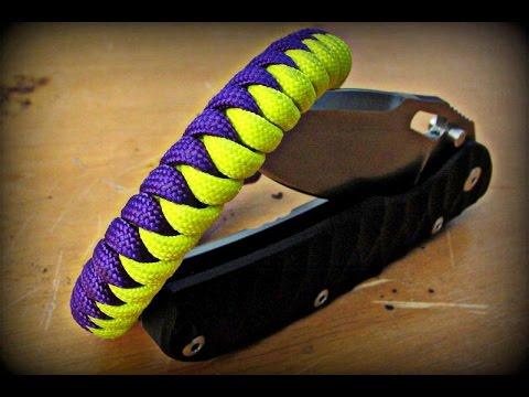 Paracord Armband Snakeknot Anleitung knüpfen – Deutsch –