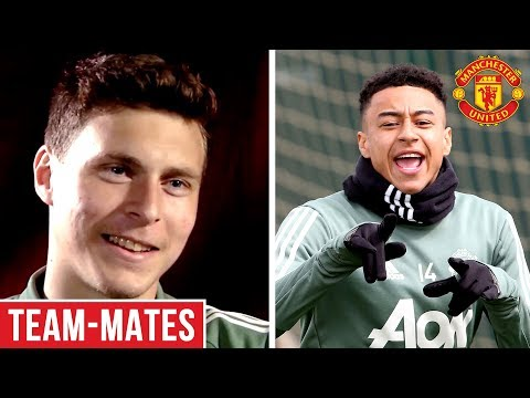 Lingard is the Funniest, Rashford is Lightning Quick! | Lindelof's Team-Mates | Manchester United
