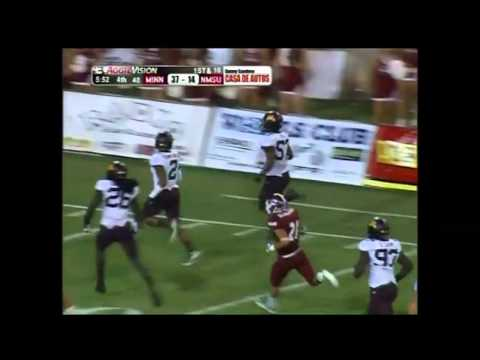 Aaron Hill fumble recovery touchdown vs New Mexico St. 2013 video.