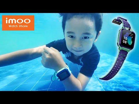 Ziyan Berenang Pakai iMoo Watch Phone Z5 - Drama Anak Lucu