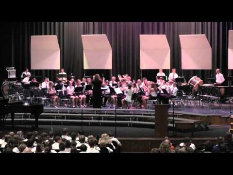 Central Middle School - Band 8 - Starry, Starry Night - 06.04.2014 (видео)