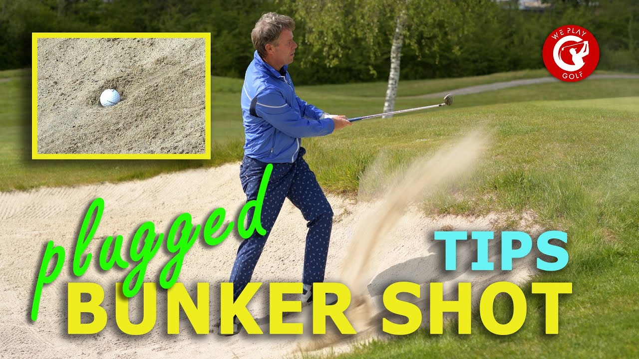 This is how you play a plugged bunker shot - 3 tips to get out of the bunker with a plugged lie