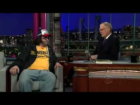 The World Champion Judah Friedlander on the Late Show 2/10/2011