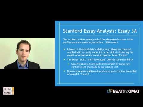 stanford essay analysis