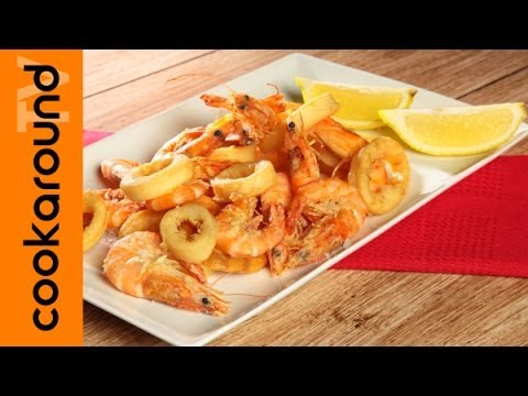 frittura di gamberi e calamari - ricetta