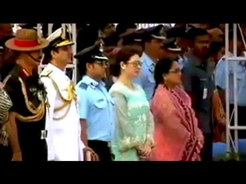 Group Captain Sachin Tendulkar attends Air Force D