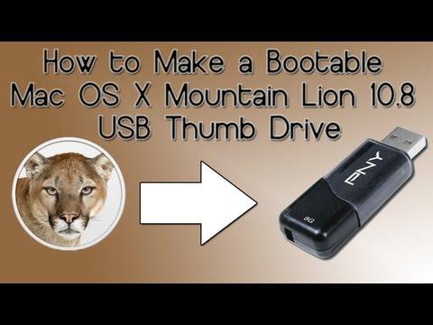How to Make a Bootable Mac OS X Mountain Lion 10.8 USB Thumb Drive