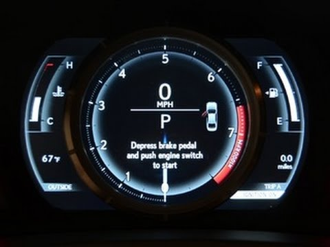 gauges - http://cnet.co/12x0Mmk The third-generation Lexus IS F-Sport features an animated and motorized LCD instrument cluster that is inspired by the automaker's LF...