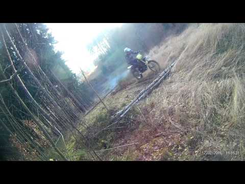 Husqvarna WR 360 over logs (NEW CAMERA FULL HD 60 FPS)