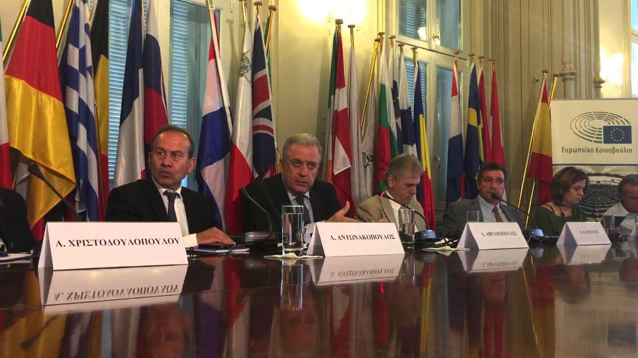 """Επίτροπος Δημήτρης Αβραμόπουλος – """"Μεταναστευτική Πολιτική της ΕΕ: Προκλήσεις και Προοπτικές"""""""