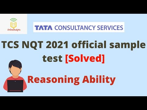 TCS NQT 2021 Official Sample Test solved   Complete Reasoning Ability solutions   Prepare for TCS