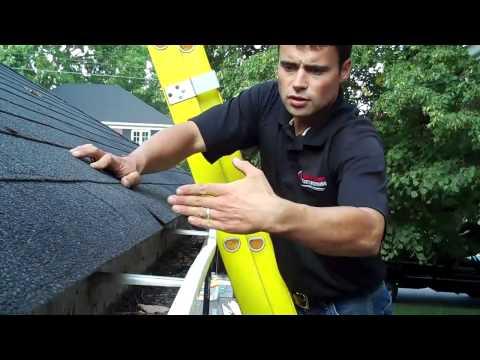 Ladder And Hang Test Off Weak Gutter