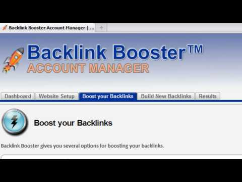 Tour of the Backlink Booster Account Manager