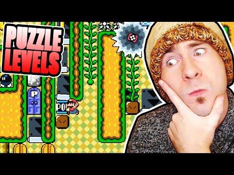 Super Mario Maker Seanhip PUZZLE Levels [SHOOTING STAR, PAIN IN THE DOOR] (видео)