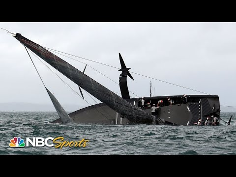 New York Yacht Club American Magic capsizes after strong wind gust at Prada Cup | Motorsports on NBC