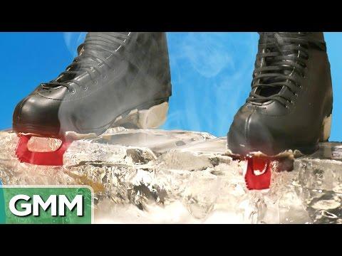 11 • E41___  _    1500 Degree Hot Ice Skates vs. Ice Block