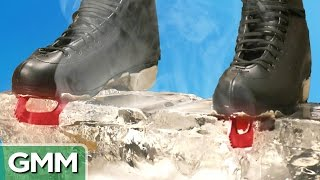 Video 1500 Degree Hot Ice Skates vs. Ice Block MP3, 3GP, MP4, WEBM, AVI, FLV Maret 2018